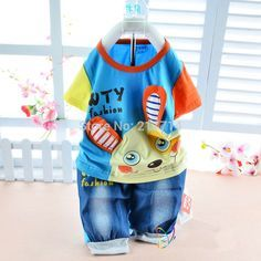 2015 New cotton character rabbity baby summer suit casual summer children clothing set 3686