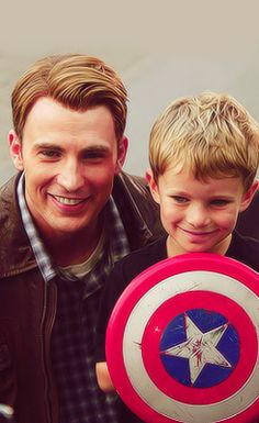 Not only is this kid adorable, but lucky too! FirstLoki and now CaptainAmerica!