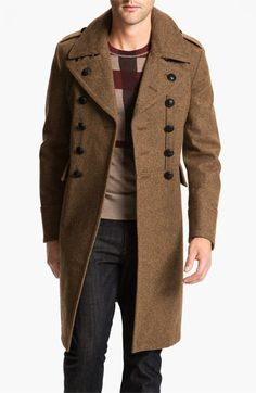Burberry Brit Wool Blend Trench Coat   Nordstrom