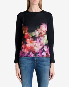 Cascading floral sweater.  Pretty!