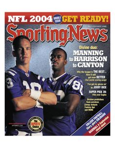 Peyton Manning Poster | Indianapolis Colts QB Peyton Manning and Marvin Harrison