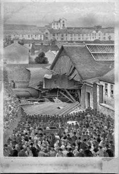 Tragedy at Merthyr Tydfil when wagons broken free from a coal train ran back down the gradient into Central Station and collided with a newly arrived passenger train