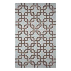 blue and brown pattern area rug