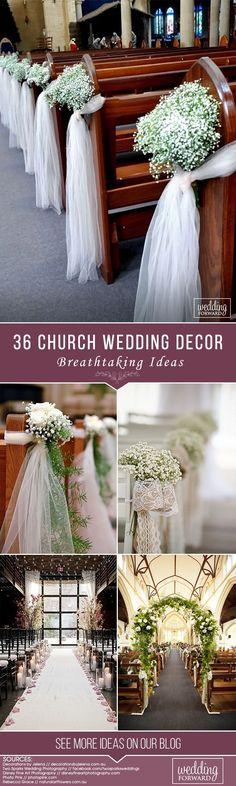 36 Breathtaking Church Wedding Decorations ❤️ See more: http://www.weddingforward.com/church-wedding-decorations/ #weddings #decorations