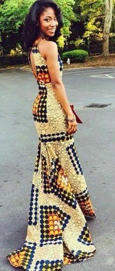 Lovin this African Print Dress! African Fashion Ankara, Ghanaian Fashion, African Inspired Fashion, African Print Fashion, Africa Fashion, Fashion Prints, Nigerian Fashion, African Dresses For Women, African Print Dresses