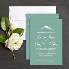 Mountain Love Wedding Invitations by Bright Room Studio | Elli