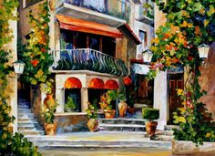 This modern painting canvas by Leonid Afremov will bring a piece of Sicilian spring to your home. Fill your place with bright colors of the Mediterranean morning and enjoy the captivating painting manner of this wonderful artist. Modern Canvas Art, Canvas Art Prints, Oil Painting On Canvas, Painting Prints, Hanging Paintings, Leonid Afremov Paintings, Sicily, Wall Art Decor, Original Paintings