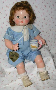 "22"" Effanbee 1940's Baby BRIGHT EYES - All Original w/Hang Tag -- It's a BOY !!"
