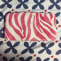 Pink Zebra Wallet Torn a bit. But inside is in great condition Bags Wallets