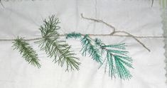 Quilted Art from Mary Katherine Hopkins: Trees - Conifer Needles