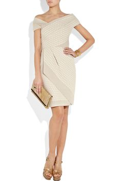 Lela Rose, Wrap-effect cotton-crepe dress. Classy, dressy and a little bit sexy at the same time.