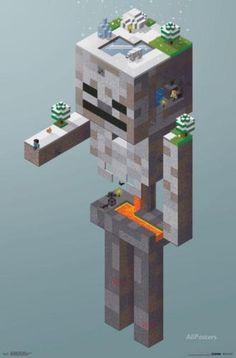 Minecraft-SkeletonTundra-Poster-22x34