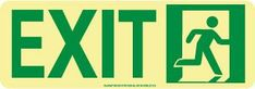 NYC DOOR MOUNT EXIT SIGN, RIGHT, 4.5X13, FLEX, 7550 GLO BRITE, MEA APPROVED
