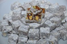 Çifte Kavrulmuş Lokum www.sugarworld.com.tr #lokum #dönerlokum #turkishdelight #sugarworld #çiftekavrulmuş #antepfıstıklılokum #çiftekavrulmuşlokum Desserts, Food, Tailgate Desserts, Deserts, Essen, Postres, Meals, Dessert, Yemek