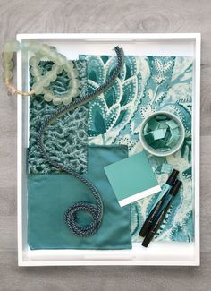 Interior design inspiration, tips from interior designers, and the latest interior design trends curated by Fabricut, Inc. Jewel Tone Colors, Jewel Tones, Interior Design Inspiration, Color Inspiration, Turquoise Room, Teal, Spa Colors, Colours, Pattern Bank