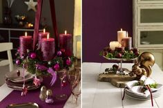 Gather some bright scented candles, decorating balls and greens to start with the decoration for New Years.