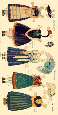 Peasant Costumes of Europe Paper Dolls by Rachel Taft Dixon (2 of 8)
