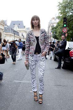 Street looks à la Fashion Week haute couture de Paris