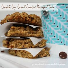 Chocolate Chip Coconut Zucchini Breakfast Cookie
