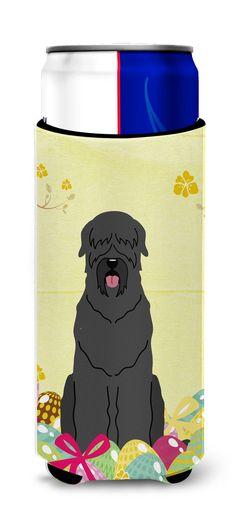 Easter Eggs Black Russian Terrier Michelob Ultra Hugger for slim cans BB6026MUK