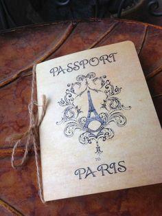 Passport to Paris Invitation - Passport Invitation - Vintage Inspired Invitation