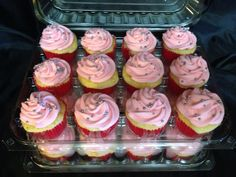 Pink and silver cupcakes