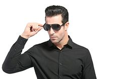 e364646c3da CHB Mens Polarized HD Designer Fashion Aviator Sunglasses for Driving  Hiking Touring -- Check out the image by visiting the link.Note It is  affiliate link ...