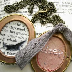 Sleep Locket by Lost In The Forest (@Emily Chandler) http://lostintheforest.com #stitch #pink #white #lilac #ribbon #embroidery