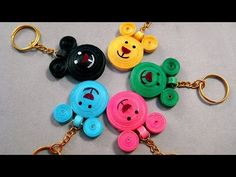 Quilling Earrings   How to make a beautiful Pink Hearts Hoops Earrings, Paper Quilling Jewelry - YouTube