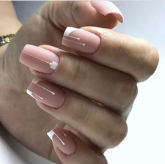 60 Best Natural Short Square Nails Design For Summer Nails - US Makeup Trends Square Nail Designs, Nail Art Designs, Nails Design, Short Nail Designs, Pink Nails, My Nails, Gradient Nails, Holographic Nails, Short Square Nails