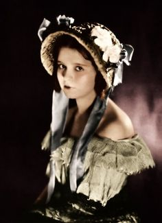 Clara Bow (colorized photo) - Down to the Sea in Ships, 1922