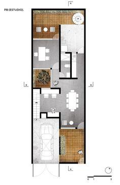 plan de maison étroite