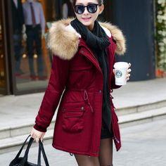 Femmes manteau veste hiver épais chaleureux fausse fourrure pardessus-Matériel: polyester, coton