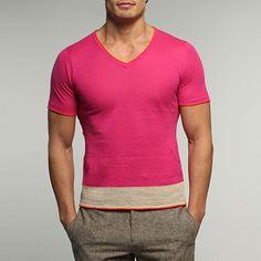 Ashram V-Neck Shirt - Hibiscus