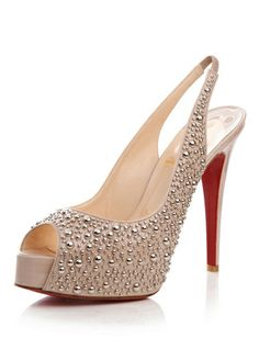 Louboutin nude sling backs ... In love with them, but would never be able  to walk in them!!