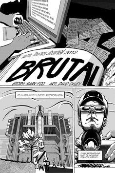 "Toronto-based comic ""Brutal"" by David Oxley and Mark Foo"