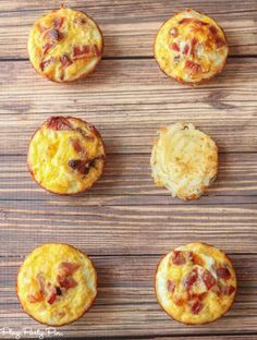 These bacon and egg breakfast muffins with a hash brown crust from playpartyplan.com are a great quick and easy breakfast recipe that you can make at the beginning of the week and heat up and eat all day long! Also perfect brunch recipe or food for a baby shower!