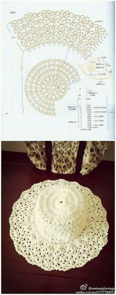 "cappellino uncinetto ""This would make a beautiful toilet tissue cover. Hecho a mano de ganchillo crochet arte de Vivir"", ""Un lindo sombrero Crochet hat Bonnet Crochet, Crochet Cap, Crochet Motifs, Love Crochet, Crochet Scarves, Crochet Doilies, Crochet Clothes, Crochet Stitches, Crochet Patterns"