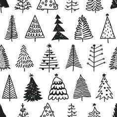 Seamless pattern with hand drawn Christmas tree. Abstract doodle drawing winter … Seamless pattern with hand drawn Christmas tree. Abstract doodle drawing winter …,Bujo // Doodles Seamless pattern with hand drawn Christmas tree. Christmas Doodles, Christmas Drawing, Christmas Art, How To Draw Christmas Tree, Winter Tree Drawing, Winter Drawings, Christmas Landscape, Vector Christmas, Xmas Tree