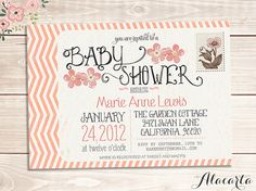 Printable Postcard Baby Shower Invitations Free