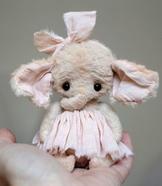 So adorable! OOAK Teddy toy Elephant by Tatyana Teykina