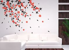 Cherry Blossom Tree Wall Decal Wall stickers for Bedrooms Decals Baby Room Designs Stick on Wall Art by DecalIsland- Wall decals for nursery...