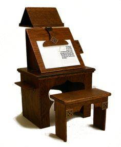 Medieval Scribe's Desk,  I need someone to make this for me:)