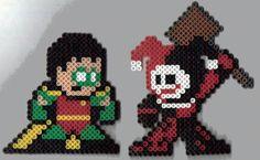 Robin and Harley perler bead