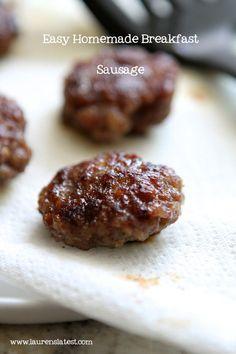 Easy Homemade Breakfast Sausage (Lauren's Latest) Here: http://www.laurenslatest.com/easy-homemade-breakfast-sausage/