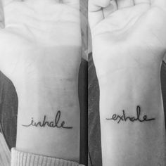 First tattoo! #inhale #exhale #tattoo #breathe