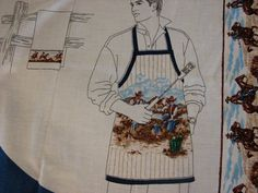 Cowboy Apron Panel Makes one apron with instructions by Finders2, $8.00