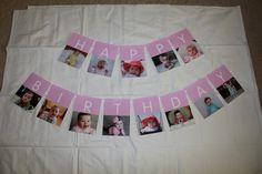First Birthday Photo Banner. $26.00, via Etsy.