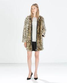 Image 2 of ANIMAL PRINT COAT from Zara