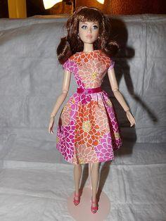 Colorful floral print modest dress for by KelleysKreationsLV